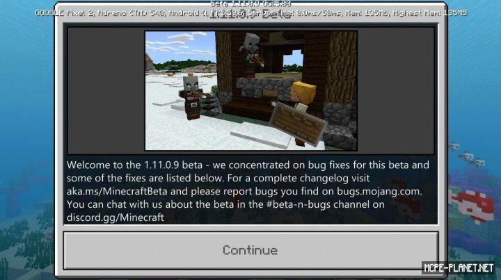 Майнкрафт 1.11.0.9