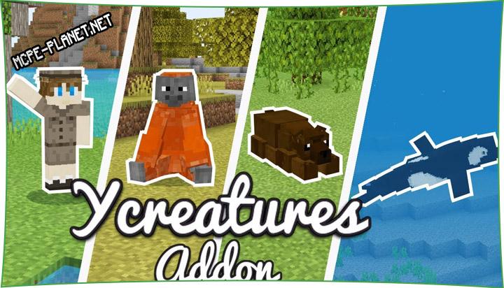 yCreatures - мод на новых животных 1.16, 1.15, 1.14, 1.13