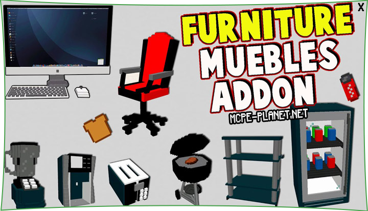 Decoration Furniture - мод на декор 1.16, 1.15, 1.14, 1.13