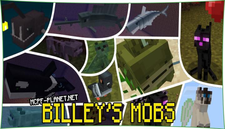 Billey's Mobs - мод на новых мобов 1.16, 1.15, 1.14, 1.13