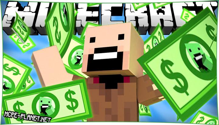 Notch's Money - мод на деньги 1.16, 1.15, 1.14, 1.13