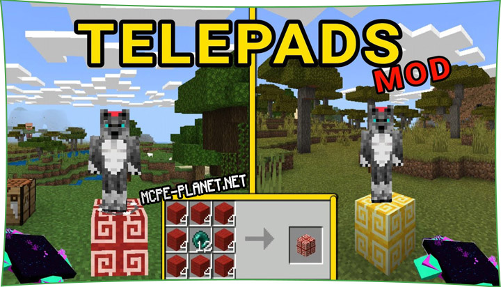Teleports - мод на порталы 1.16, 1.15, 1.14, 1.13