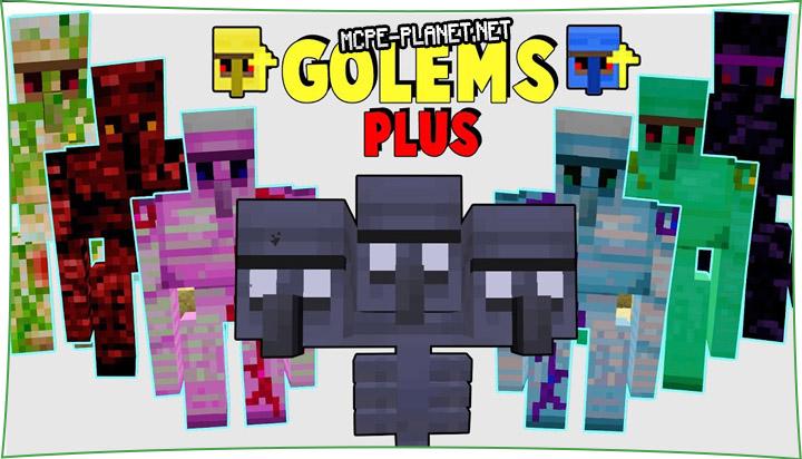 Golems - мод на големов 1.16, 1.15, 1.14, 1.13