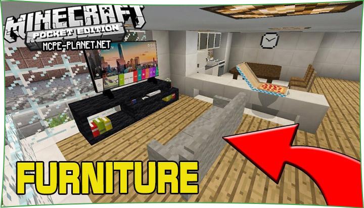 Furniture - мод на мебель и декор 1.16, 1.15, 1.14, 1.13