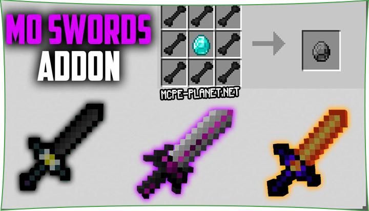 MoSwords Craft - мод на новые мечи и руду 1.16, 1.15, 1.14, 1.13